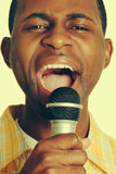 Black Man Singing Royalty Free Stock Image