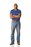 Black Man standing casual royalty free stock photography
