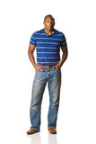 Black Man standing casual Stock Image