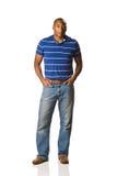 Black Man standing casual Stock Image