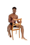 Black man standing in underwear. Royalty Free Stock Photos