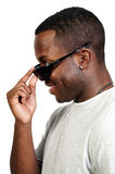 Black Man Sunglasses Stock Photos