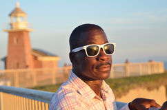 Black Man In Sunglasses Royalty Free Stock Photography