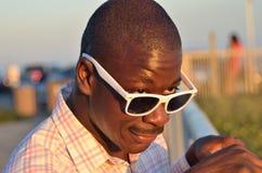 Black Man In Sunglasses Stock Photo