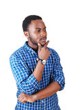 Black Man Thinking. Stock Photo