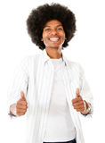 Black man with thumbs up Stock Images