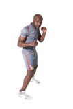 Black man training isolated on white background Stock Photography
