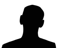 Black Man. Unknown black man silhouette on the white isolated background vector illustration