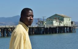 Black Man by the Water Angry Stock Images