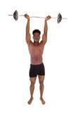 Black man weight lifting. Royalty Free Stock Image