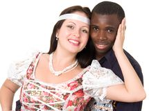 Black man and white woman Royalty Free Stock Images