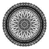 Black mandala, indian motif. Ornate round ornament Stock Photo