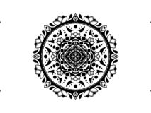 Mandala. Black and white. Round Ornament. The black mandala. Vintage round ornament.. Nature ornament. Flowers. Tattoo, yoga and spa symbol royalty free stock image