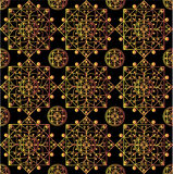 Black mandalas pattern. Drawing of a pattern from black mandalas in geometric style Royalty Free Stock Photography