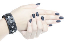Black manicure Royalty Free Stock Photo
