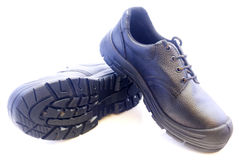 Black mans leather shoes isolated on white background Stock Image