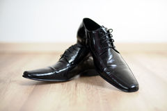 Black Mans Shoes Royalty Free Stock Images