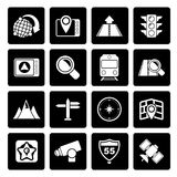 Black Map, navigation and Location Icons royalty free illustration