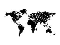 Black map world Royalty Free Stock Photo