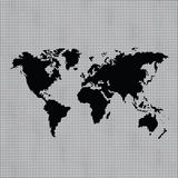 Black map of the world Stock Image