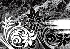 Black marble. A pattern of black and white marble Stock Image