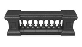 Black marble balustrade isolated. 3d rendering Stock Photo