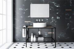 Free Black Marble Bathroom Sink Stock Photos - 111666893