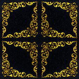 Black marble,The pattern on the marble walls. Royalty Free Stock Photography
