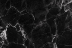 Black marble patterned (natural patterns) texture background. Royalty Free Stock Photo