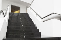 Black marble stairs Stock Photography