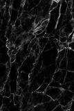 Black marble texture, detailed structure of marble in natural patterned  for background and design. Royalty Free Stock Photos