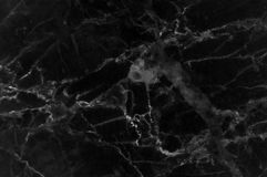 Black marble texture with lots of contrasting veining Stock Image
