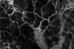 Black marble texture in natural patterned for background and design. Royalty Free Stock Photo