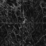 Black marble tiles seamless flooring texture for background and design. Stock Photography