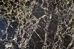 Black marble with white veins Stock Images