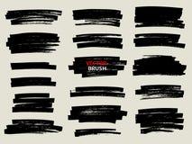Black marker brush stroke set. Marker brush stroke,abstract brush,sketch Stock Photos