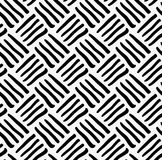Black marker drawn diagonal stripes. Hand drawn with paint brush seamless background. Abstract texture. Modern irregular tilable design stock illustration