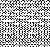 Black marker drawn simple dragon skin with dots Royalty Free Stock Image