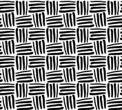 Black marker drawn stripes. Hand drawn with paint brush seamless background. Abstract texture. Modern irregular tilable design stock illustration