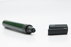Black marker and lid Stock Photography