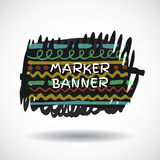 Black markers strokes banner Stock Photo
