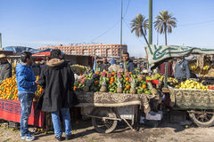 Black market of Marrakech, Morocco Stock Photos
