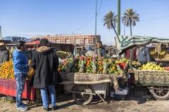 Black market of Marrakech, Morocco Stock Photos