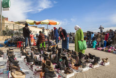 A Black market in Meknes, Morocco Stock Photos