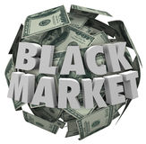 Black Market Money Ball Unreported Illegal Transactions Economy Stock Photo