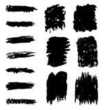 Black marks and brushstrokes Royalty Free Stock Image