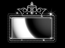 Black marquee sign. Illustration of a theater marquee sign Royalty Free Stock Photo