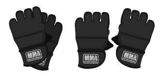 Black martial arts gloves Stock Photography