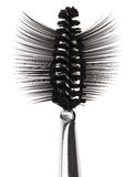 Black mascara brush and false eyelashes Royalty Free Stock Photos