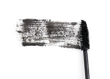 Black mascara brush stroke Stock Photography